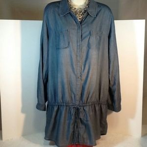 Old Navy Chambray Drop Waist Tunic Top/Dress